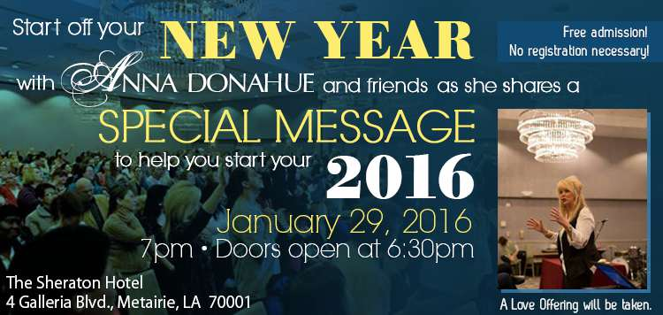 Start off your NEW YEAR with Anna Donahue and friends!