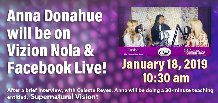 Join Anna on Vizion Nola/and Facebook Live!