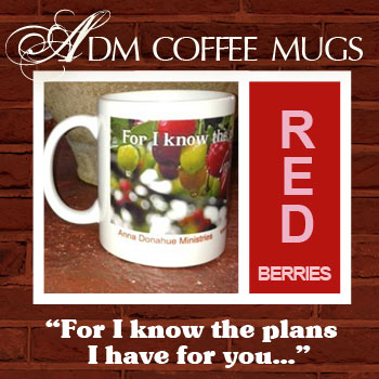 ADM Red Berry Coffee Mugs
