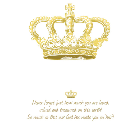 Heir Greeting Card